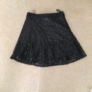 Delia's Black Sequin Skirt